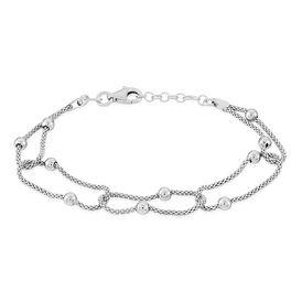 Damenarmband Popcornkette Silber 925  -  Damen | Oro Vivo