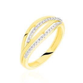 Damenring Gold 333 Rhodiniert Zirkonia - Ringe mit Stein Damen   Oro Vivo