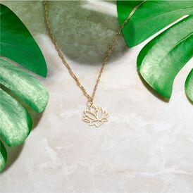 Anhänger Gold 375 Lotus -  Damen | Oro Vivo