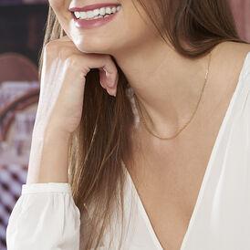 Damen Ankerkette Gold 375 Diamantiert 40cm - Ketten ohne Anhänger Damen | Oro Vivo