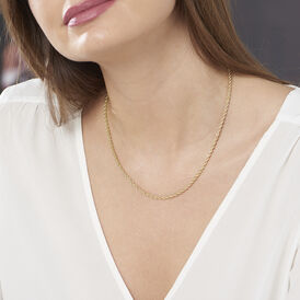 Damen Kordelkette Gold 375 45cm - Ketten ohne Anhänger Damen | Oro Vivo