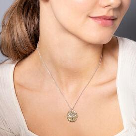 Damen Halskette Silber 925 Bicolor Lebensbaum - Ketten mit Anhänger    Oro Vivo