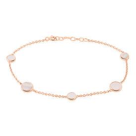 Damenarmband Silber 925 Rosé Vergoldet Perlmutt - Armbänder Damen | Oro Vivo