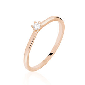 Solitärring Roségold 375 Diamant 0,07ct -  Damen | Oro Vivo
