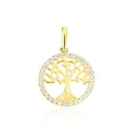 Anhänger Gold 375 Zirkonia Lebensbaum - Schmuckanhänger Damen | Oro Vivo