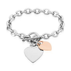 Damenarmband Silber 925 Vergoldet Bicolor Herz - Personalisierte Geschenke Damen | Oro Vivo