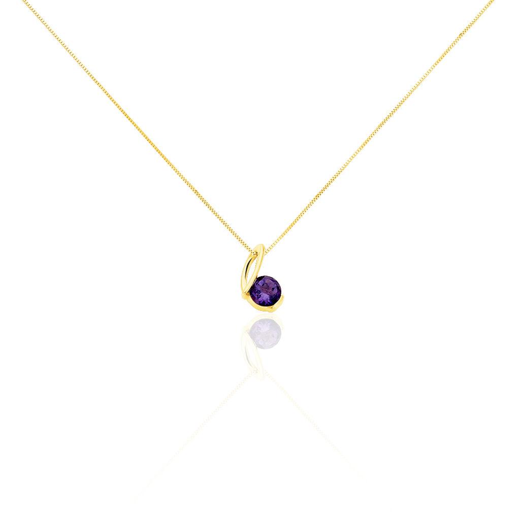 Damen Halskette Gold 375 Ametyst - Ketten mit Anhänger Damen | Oro Vivo
