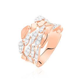 Damenring Roségold 750 Diamanten 0,47ct -  Damen   Oro Vivo