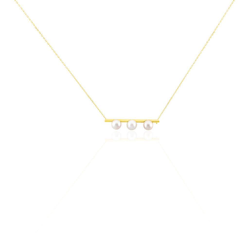 Damen Halskette Gold 375 Zuchtperle - Ketten mit Anhänger Damen | Oro Vivo