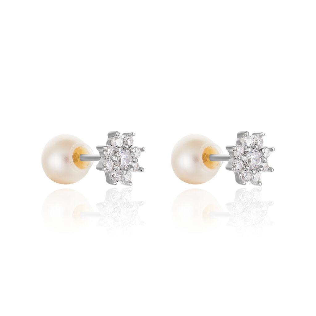 Damen Doppelohrstecker Silber 925 Zuchtperle 5-6mm - Ohrringe Damen | Oro Vivo