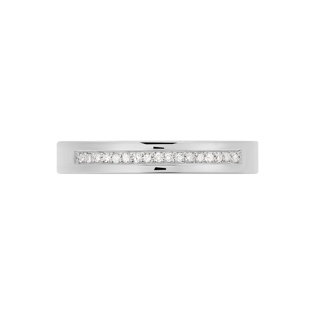 Damenring Silber 925 Diamanten 0,068ct - Eheringe Damen | Oro Vivo