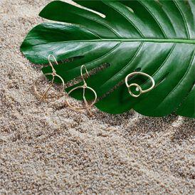 Damen Ohrhänger Lang Gold 375 Kreis - Ohrhänger  | Oro Vivo