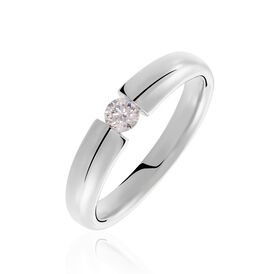 Spannring Weißgold 585 Diamant 0,2ct - Ringe mit Edelsteinen Damen   Oro Vivo