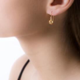 Damen Ohrhänger Gold 375 Kugel 6,5mm - Ohrhänger Damen | Oro Vivo