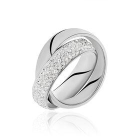 Damenring Edelstahl Kristallsteine - Ringe mit Stein    Oro Vivo