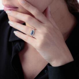 Damenring Gold 375 Saphir Diamant - Schmuck Damen | Oro Vivo
