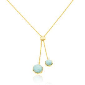 Damen Halskette Silber 925 Vergoldet Quarz -  Damen | Oro Vivo