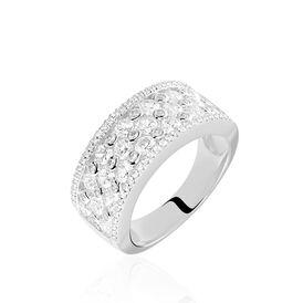 Damenring Silber 925 Rhodiniert Zirkonia - Ringe mit Stein  | Oro Vivo