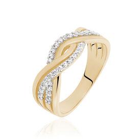 Damenring Silber 925 Vergoldet Zirkonia - Ringe mit Stein Damen   Oro Vivo
