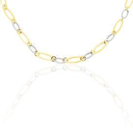 Damen Collier Gold 375 Bicolor 45cm - Ketten ohne Anhänger Damen | Oro Vivo