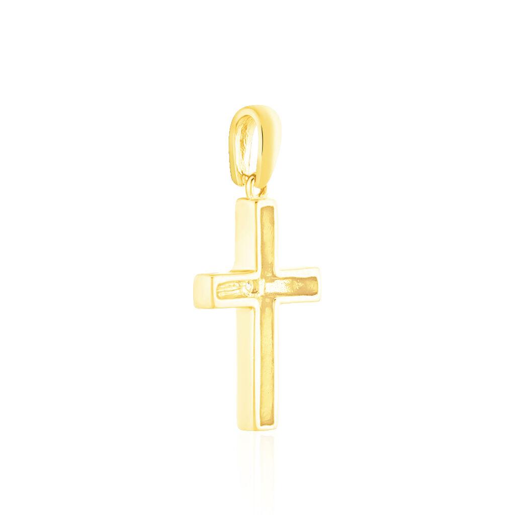 Anhänger Gold 375 Diamant 0,019ct Kreuz - Kreuzanhänger Damen | Oro Vivo