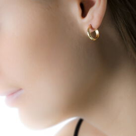 Damen Creolen 375 Gold 10mm - Creolen Damen | Oro Vivo