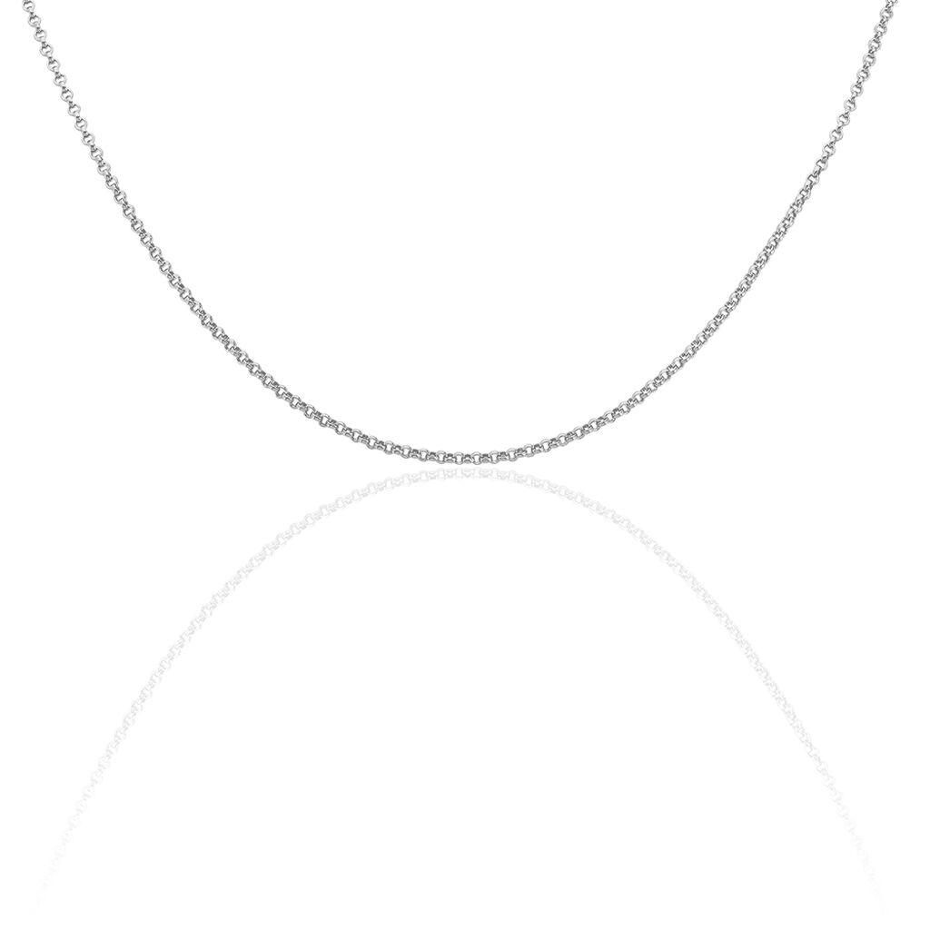 Damen Erbskette Silber 925 42cm - Ketten ohne Anhänger Damen   Oro Vivo