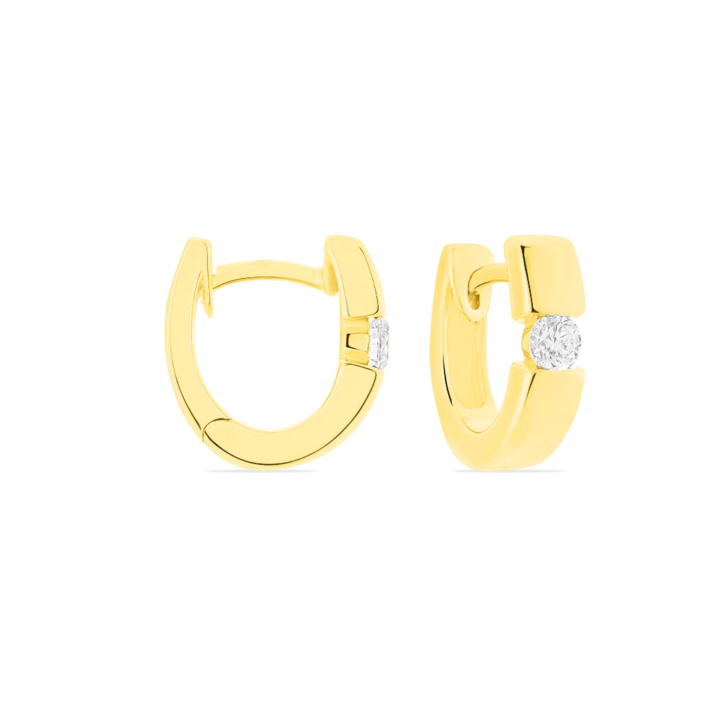 Damen Creolen Gold 585 Diamant 0,2ct 11mm - Creolen Damen | Oro Vivo