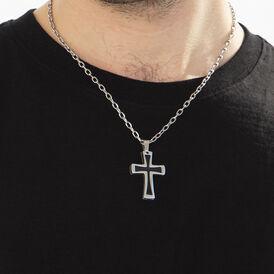 Herren Halskette Edelstahl Kreuz - Ketten mit Anhänger  | Oro Vivo