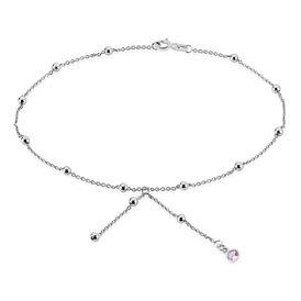 Damen Fußkette Silber 925 Rosé Zirkonia Kugeln - Fussketten Damen | Oro Vivo
