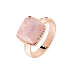 Damenring Silber 925 Rosé Vergoldet Glasstein - Black Friday Damen | Oro Vivo