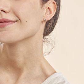 Damen Steckcreolen Gold 375 Tricolor  - Creolen Damen | Oro Vivo