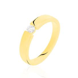 Spannring Gold 375 Diamant 0,1ct - Personalisierte Geschenke Damen   Oro Vivo