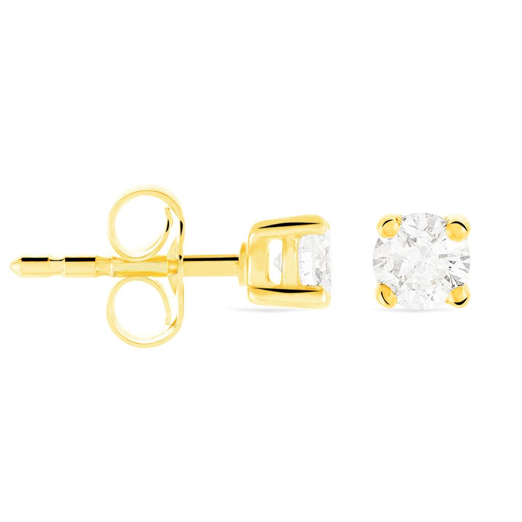 Damen Ohrstecker Gold 585 Diamant 0,2ct  - Ohrstecker Damen | Oro Vivo