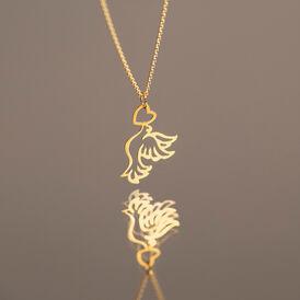 Anhänger Gold 375 Friedenstaube Herz - Herzanhänger Damen   Oro Vivo