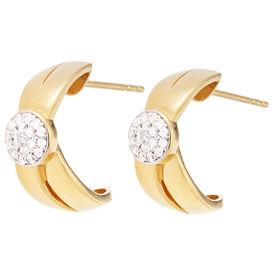 Damen Steckcreolen Gold 375 Diamanten 0,11ct - Creolen Damen | Oro Vivo