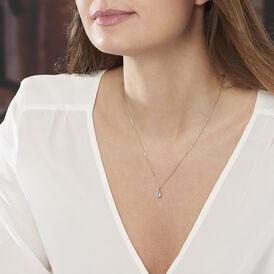 Damen Halskette Gold 375 Topas - Ketten mit Anhänger Damen   Oro Vivo