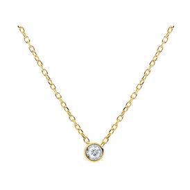 Damen Halskette Gold 375 Diamant 0,052ct - Ketten mit Anhänger Damen | Oro Vivo