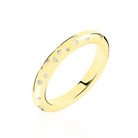 Damenring Gold 375 Diamant 0,06ct - Ringe mit Edelsteinen    Oro Vivo