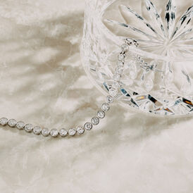 Damen Tennisarmband Silber 925 Zirkonia abgerundet - Armbänder Damen | Oro Vivo