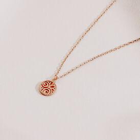 Damen Halskette Silber 925 Rosé Vergoldet - Ketten mit Anhänger Familie   Oro Vivo