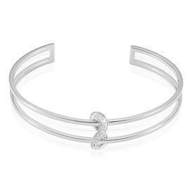 Damen Armreif Silber 925 Zirkonia Infinity -  Damen | Oro Vivo