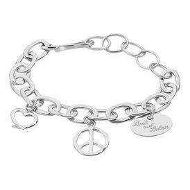 Damen Chamencharmarmband Silber 925 Herz -  Damen | Oro Vivo