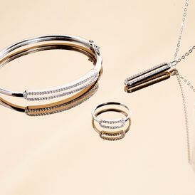 Damen Armreif Silber 925 Zirkonia - Armreifen Damen | Oro Vivo