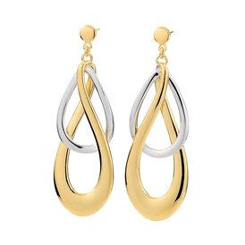 Damen Ohrstecker Lang Vergoldet Bicolor - Ohrringe Damen | Oro Vivo
