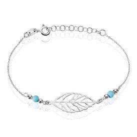 Damenarmband Silber 925 Türkis Blatt - Armbänder Damen | Oro Vivo