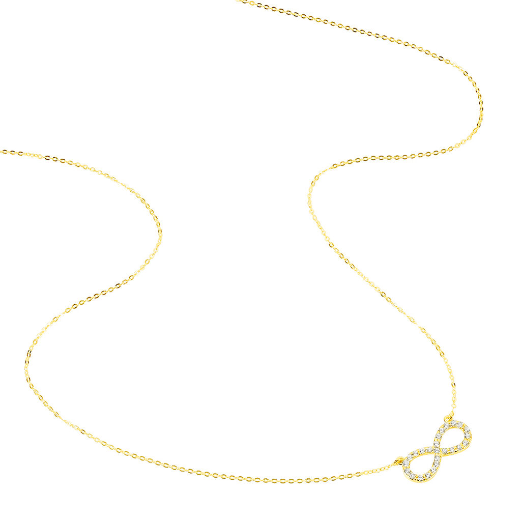 Damen Halskette Gold 375 Zirkonia Infinity - Ketten mit Anhänger Damen | Oro Vivo