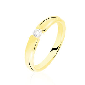 Spannring Gold 375 Diamant 0,1ct - Black Friday Damen | Oro Vivo