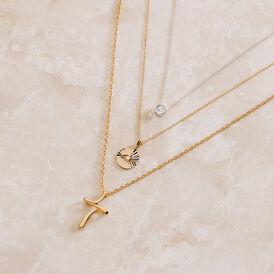 Damen Halskette Weißgold 375 Diamant 0,04ct - Ketten mit Anhänger Damen   Oro Vivo