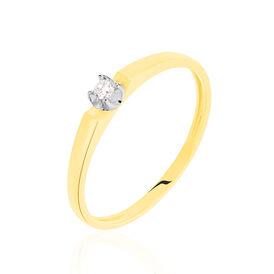 Damenring Gold 375 Diamanten 0,03ct -  Damen | Oro Vivo